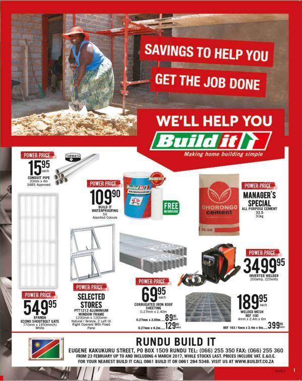 Build It Namibia - Rundu 23 Feb - 4 March 2017