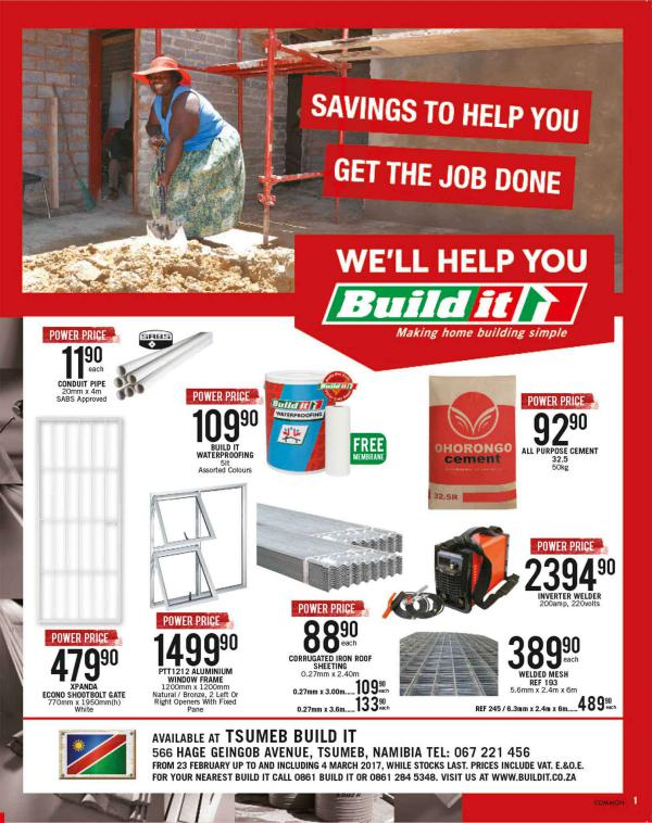 Build It Namibia - Tsumeb 23 Feb - 4 March 2017