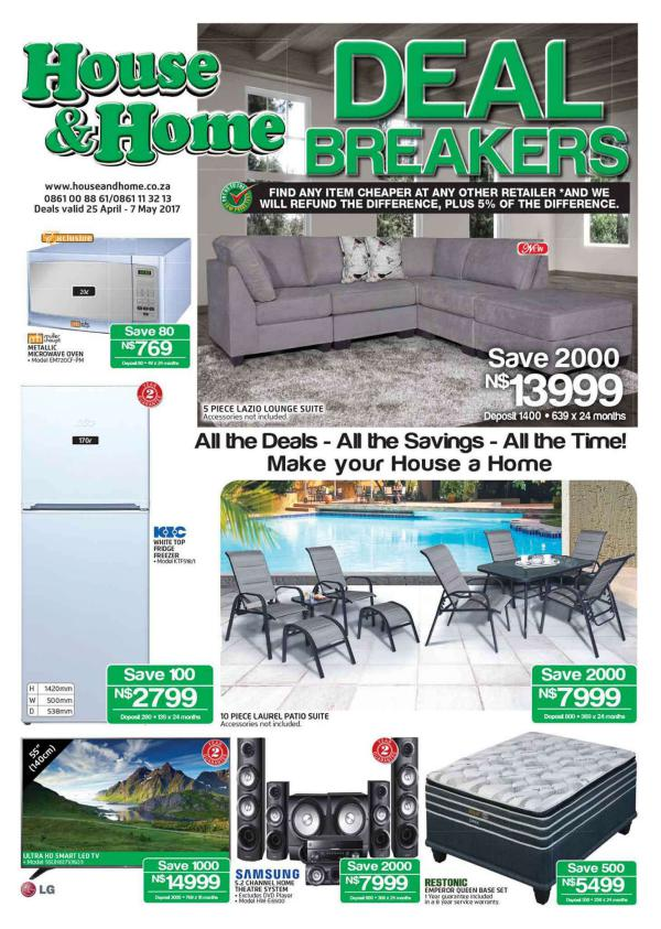 House & Home Namibia 25 April  - 7 May 2017