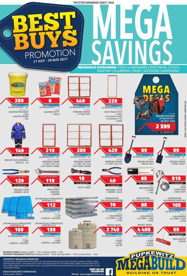 Pupkewitz MegaBuild Namibia Best Buys Promo