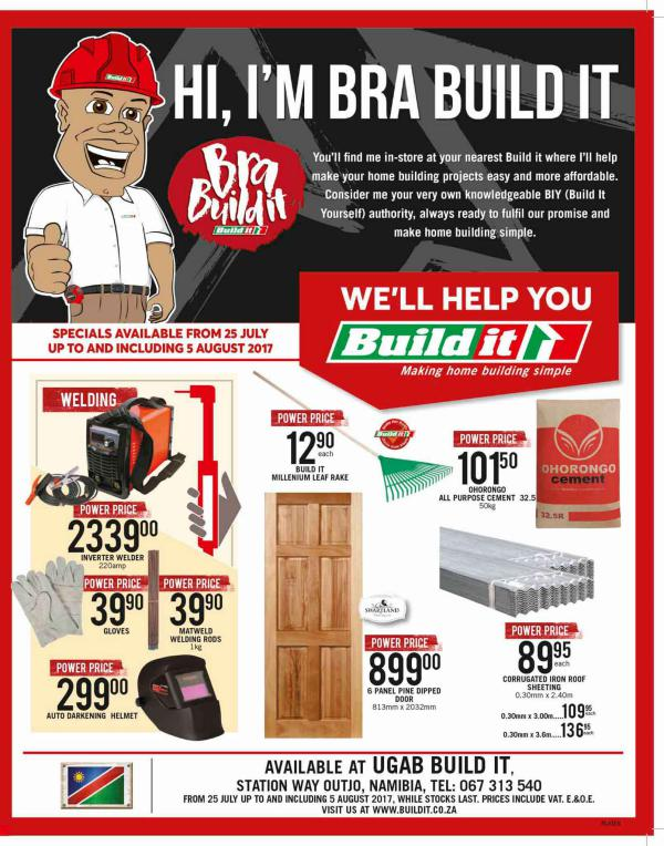 Build It Namibia - Outjo 25 July - 5 August 2017
