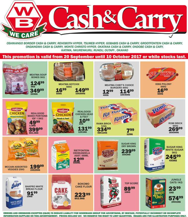 Woermann Cash & Carry Namibia 20 September - 10 October 2017