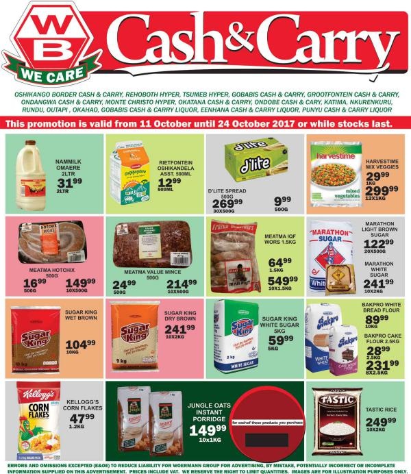 Woermann Cash & Carry Namibia 11 October - 24 October 2017