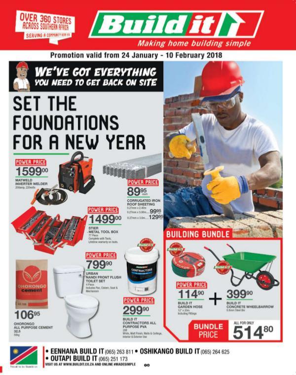Build It Eenhana, Oshikango & Outapi 24 Jan - 10 Feb 2018