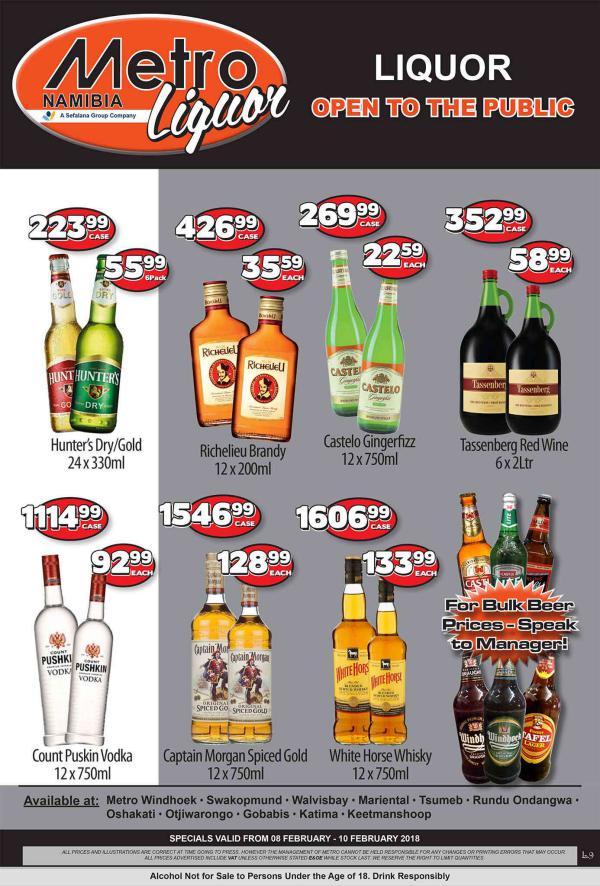 Metro Liquor Namibia 8 Feb - 10 Feb 2018