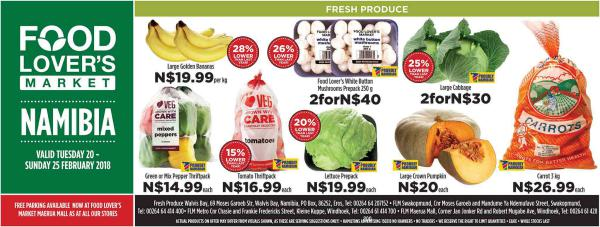 Fruit & Veg City Namibia 20 Feb - 25 Feb 2018