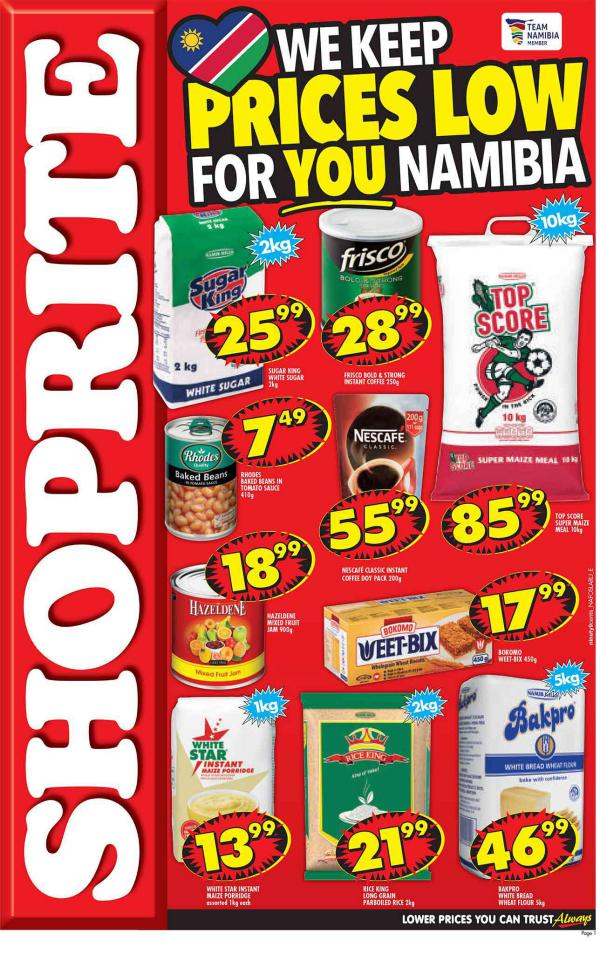 Shoprite Namibia Valid: 4 March 2018