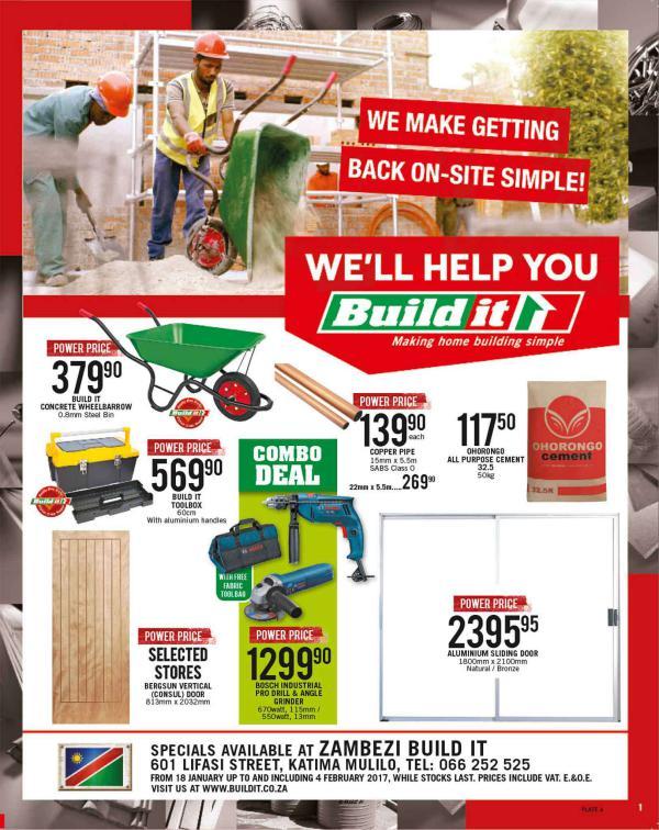 Build It Namibia -Zambezi 18 Jan - 4 Feb 2017