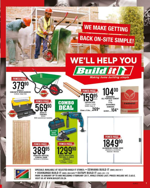 Build It Eenhana, Oshikango & Outapi 18 Jan - 4 Feb 2017