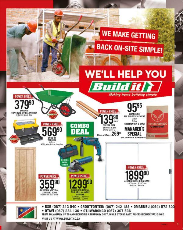 Build It Namibia - Grootfontein, Otavi, Otjiwarongo & Omaruru 18 Jan - 4 Feb 2017