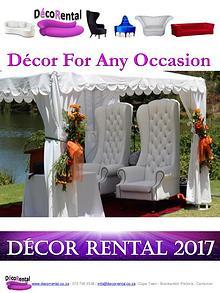 Decor Rental Catalogue
