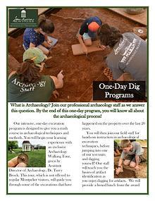 Montpelier Archaeology Public Programs (2019/2020)