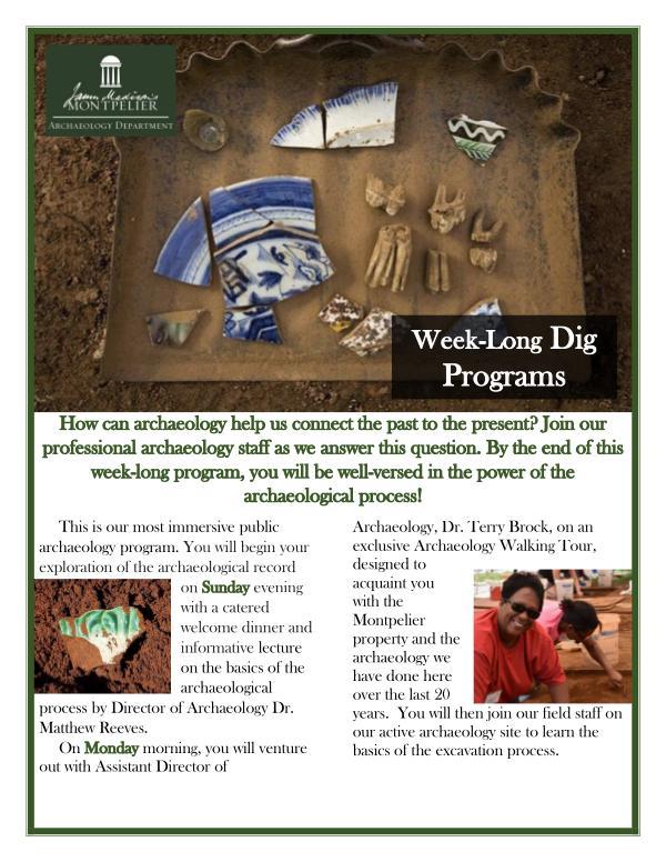 Week-Long Dig