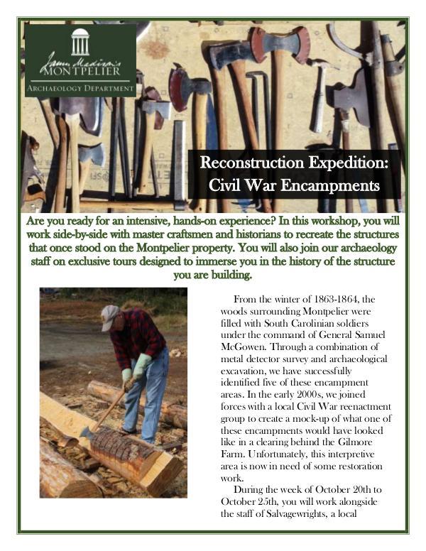 Reconstruction: Civil War Encampments