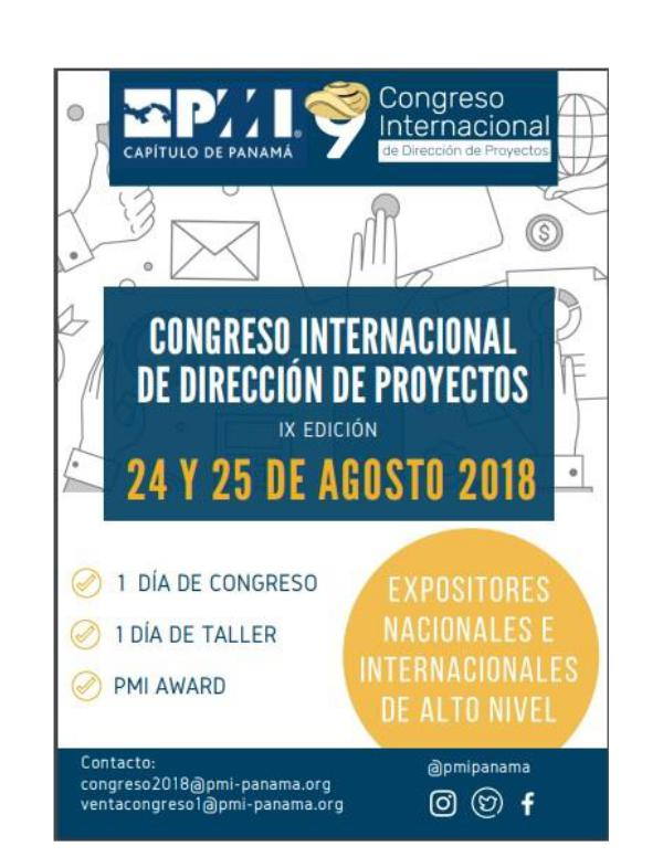 REVISTA DIRECCIÓN DE PROYECTOS Revista Programa Congreso 2018_V4