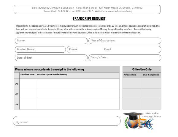 EAE Transcript Request Form2017