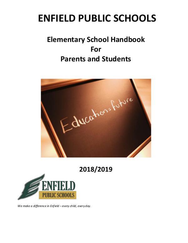 Elementary Handbook  2018-19