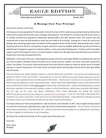 Enfield High Newsletters - Eagle Edition