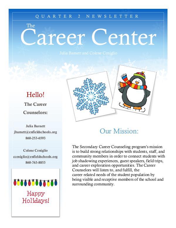 EHS Career Center Career Center Winter 2018 Newsletter