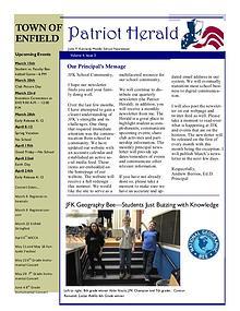 JFK Middle School: Patriot Herald Newsletter