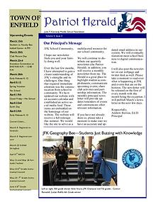 JFK Middle School: Patriot Herald Newsletter