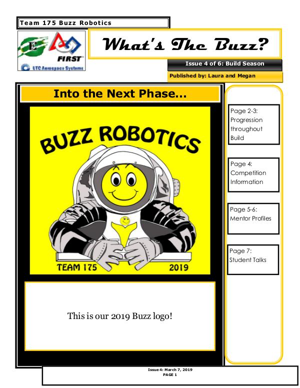 Buzz 2018-2019 Newsletter Issue 4