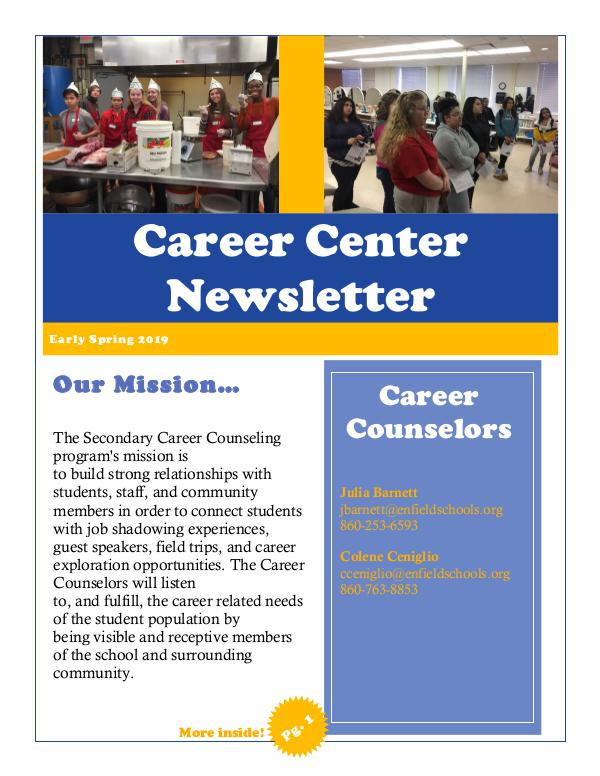 EHS Career Center Career Early Spring 2019 Newsletter