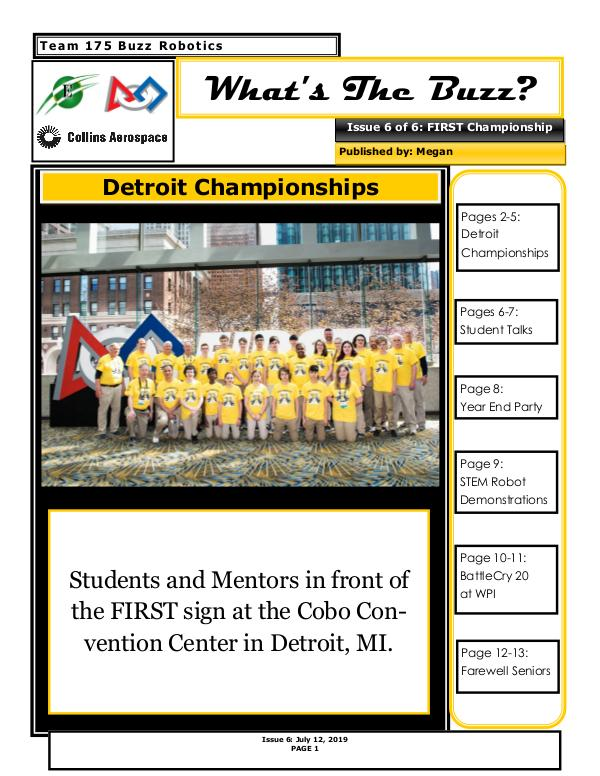 Buzz 2018-2019 Newsletter Issue 6
