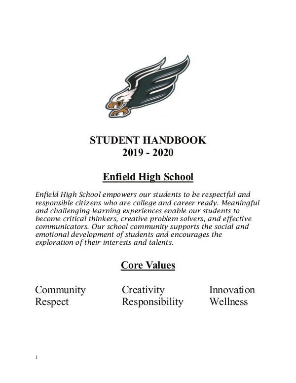 EHS Student Publications EHS_ST_HANDBOOK_2020