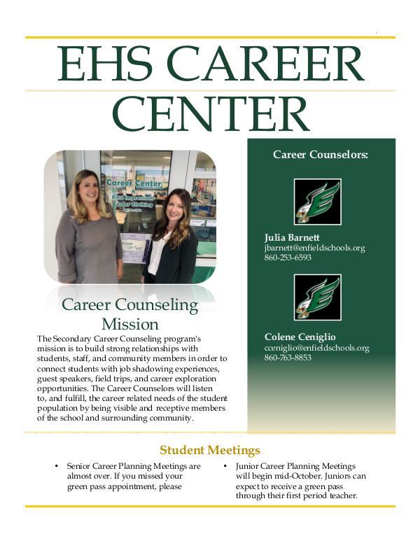 EHS Career Center Career Center Newsletter Fall 2019