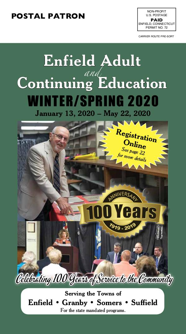 Enfield Adult Ed Winter 2020
