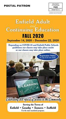 Enfield Adult Education Fall 2020