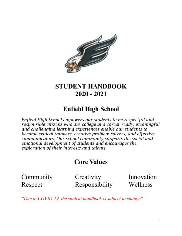 EHS Student Handbook 2021