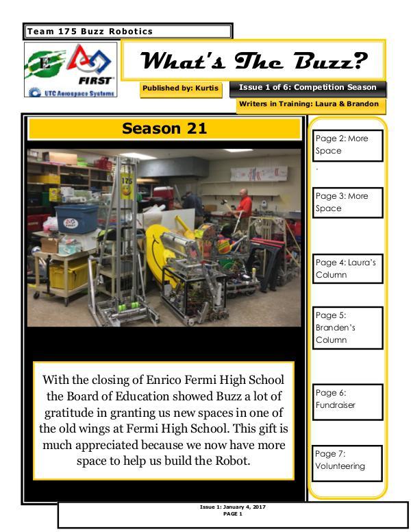 2017 Newsletter Issue 1