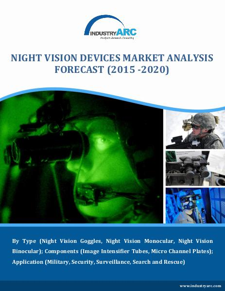 Night Vision Device Market exhibit a growth of CAGR 7% through 2020 Night Vision Device Market