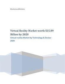 Virtual reality Market by Technology  2020 | MarketsandMarkrkets Virtual reality Market by Technology - 2020 | MarketsandMarkets
