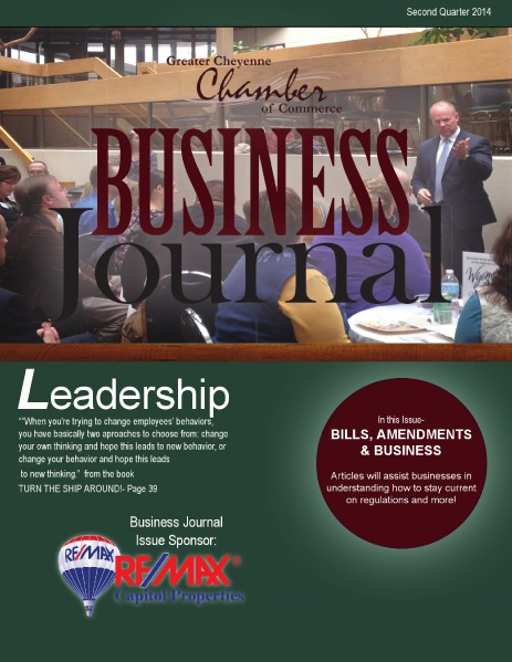 Greater Cheyenne Chamber of Commerce Business Journal Q2 2014