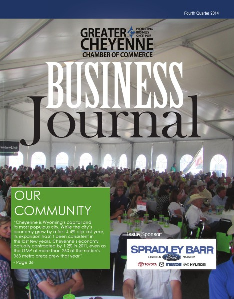 Greater Cheyenne Chamber of Commerce Business Journal Q4 2014