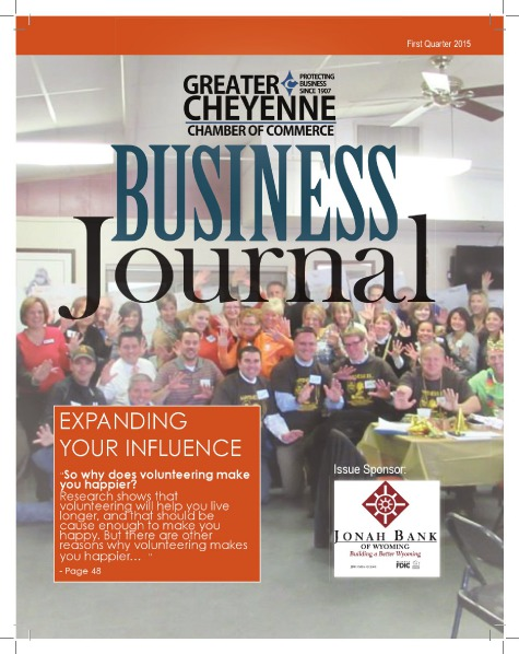 Greater Cheyenne Chamber of Commerce Business Journal Q1 2015