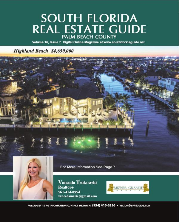 South Florida Real Estate Guide Issue 7