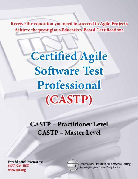 IIST - Software Testing Training - Agile Brochure September 2015