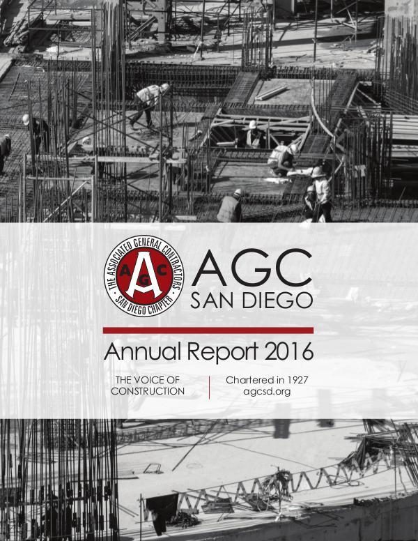 AGC San Diego Annual Report 2016 AGC San Diego Annual Report 2016