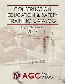 AGC San Diego Education & Safety Training Catalog - July to Dec 2017