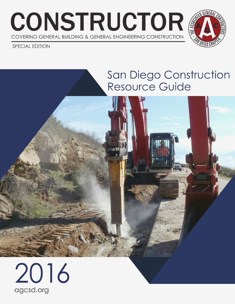 AGC San Diego Construction Resource Guide 2016 Volume 3 / 2016