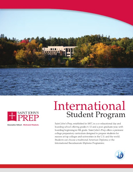 Saint John's Preparatory School - International Brochure 2015-2016