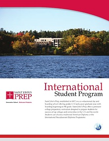 Saint John's Preparatory School - International Brochure