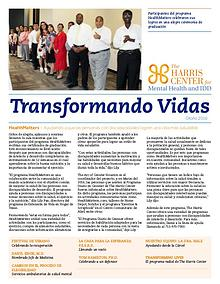 Transforming Lives - The Newsletter of The Harris Center