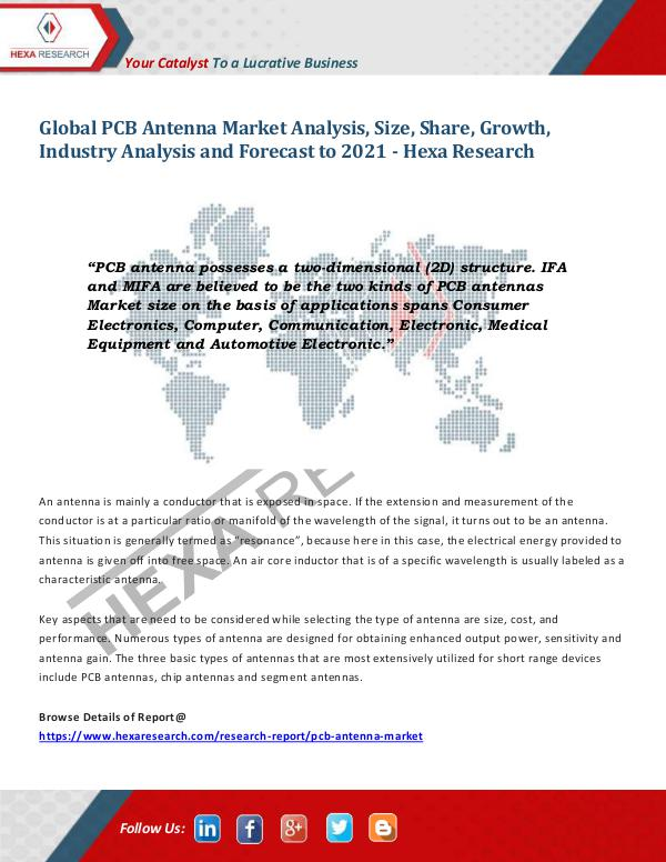 Semiconductors & Electronics Industry PCB Antenna Market Trends and Analysis, 2021