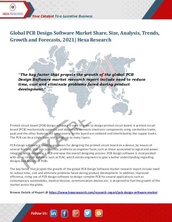 Semiconductors & Electronics Industry PCB Design Software Market Insights, 2021