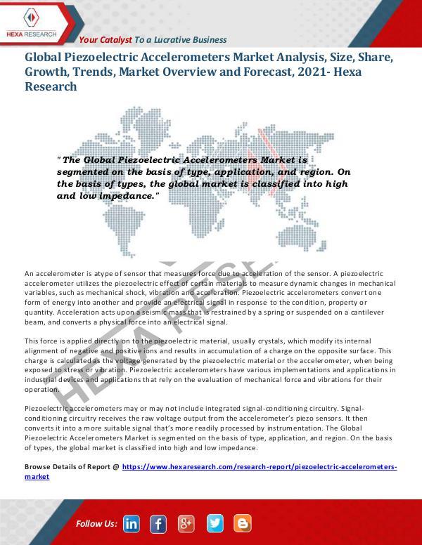 Semiconductors & Electronics Industry Piezoelectric Accelerometers Market Trends